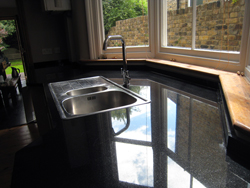 Black Granite Kitchen Worktops in Nunhead