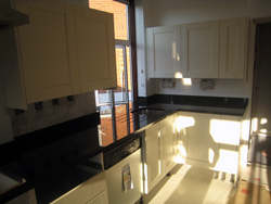 Black granite kitchen worktops - Brent