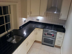Black Granite Kitchen Worktops - St. Johns Wood