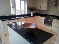 Black Pearl Granite Kitchen Worktops - Battersea
