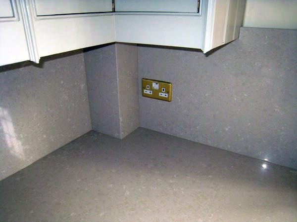 Quartz composite up-stands
