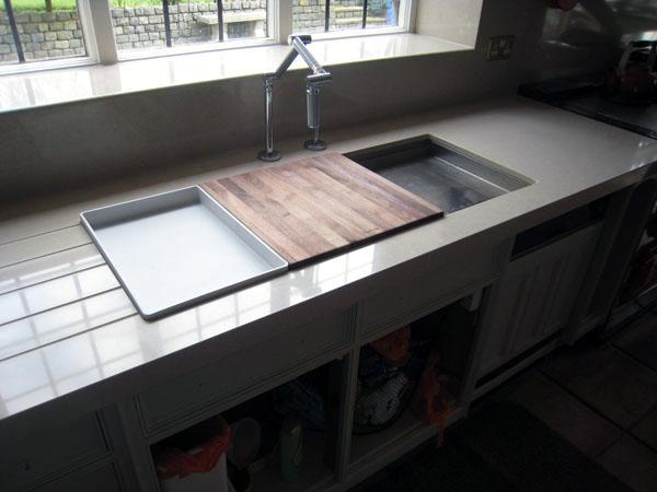 Quartz composite worktops in Guildford