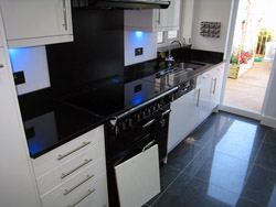 Indian Black - Black Granite Kitchen Worktops - Dartford