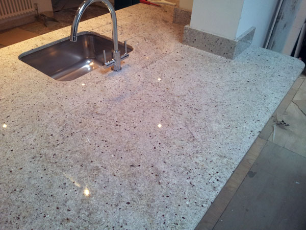 Kashmir White Grakite Kitchen Worktops - Norbury