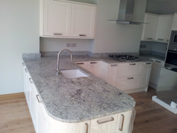 Kashmir White Granite Kitchen Worktops - West Ealing