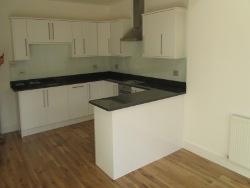 Granite Kitchen Worktops London Wimbledon with Glass Splashbacks