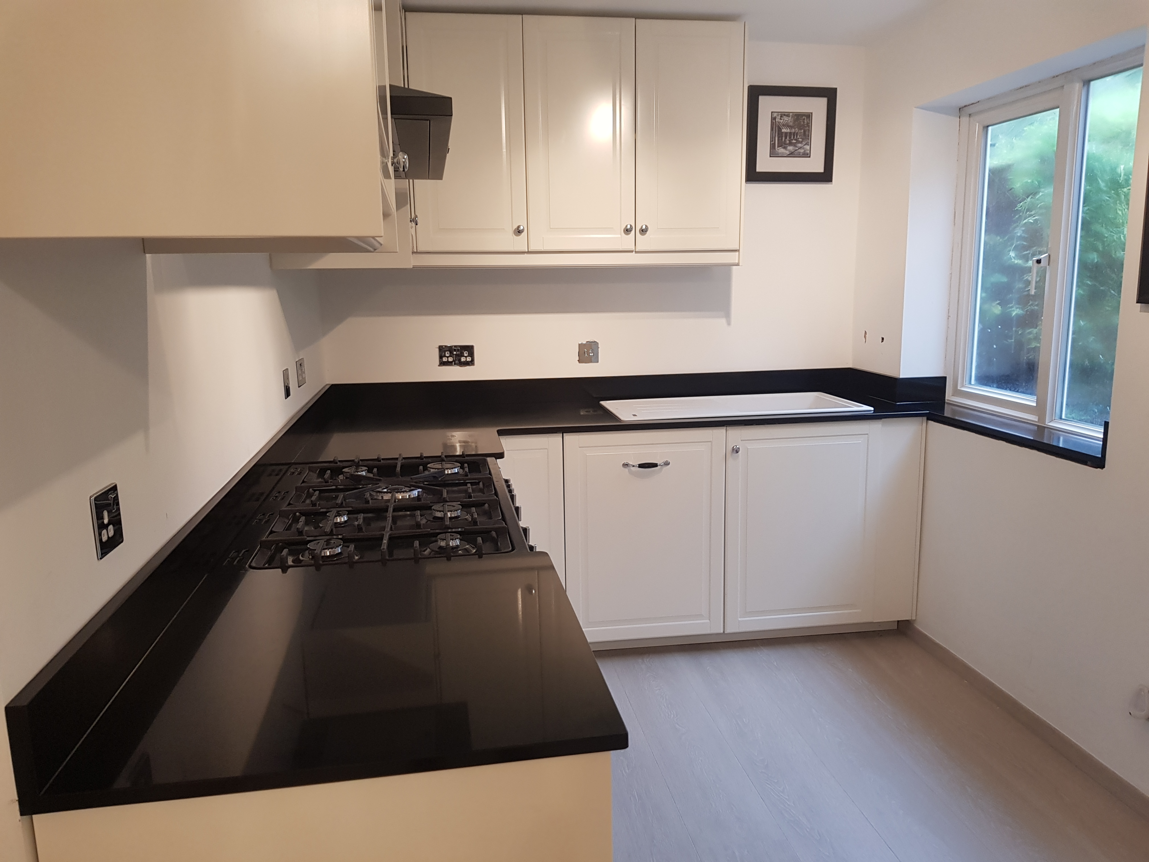 Jet Black Caesarstone - Clapham, London