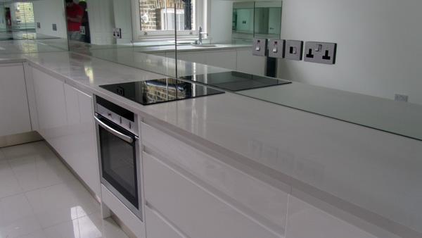 Quartz Kitchen Worktops And Mirror Glass Splashbacks Fulham Mg
