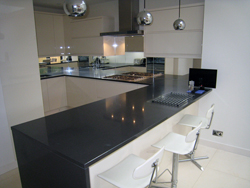 Ascot - Silestone Carbono Quartz Kitchen Worktops