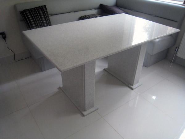 Starlight White Technistone Quartz Kitchen Table Watford Mg