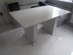 Starlight White [TECHNISTONE] Quartz Kitchen Table - Watford