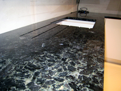 Granite worktops Volga Blue in Euston