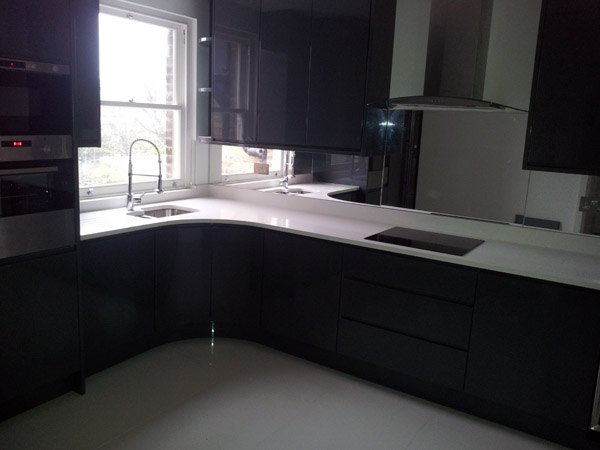Silestone White Quartz Kitchen Worktop Forest Hill
